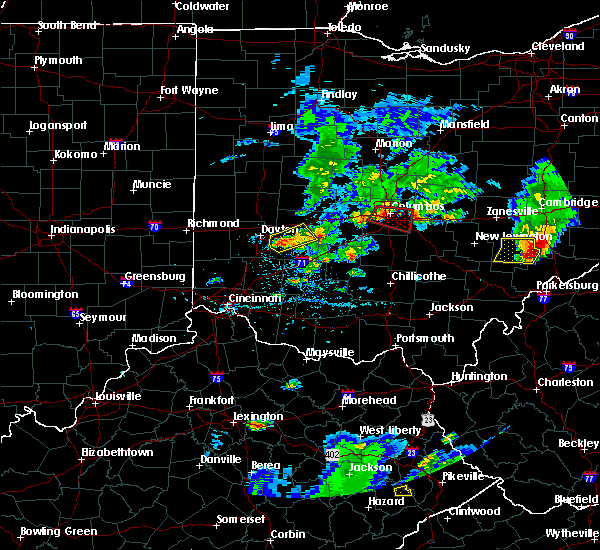 Radar Image for Severe Thunderstorms near Obetz, OH at 5/15/2018 6:05 PM EDT