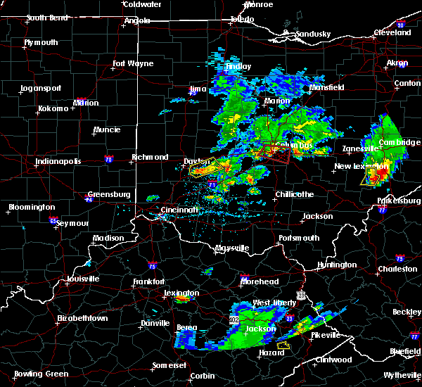 Radar Image for Severe Thunderstorms near Dayton, OH at 5/15/2018 6:09 PM EDT