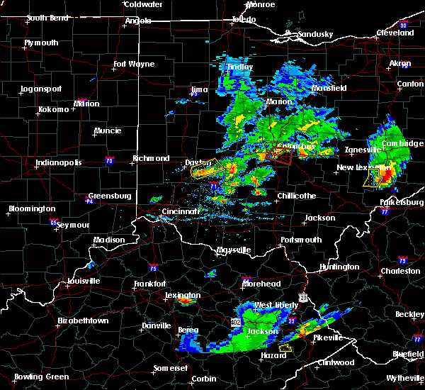 Radar Image for Severe Thunderstorms near Obetz, OH at 5/15/2018 6:15 PM EDT
