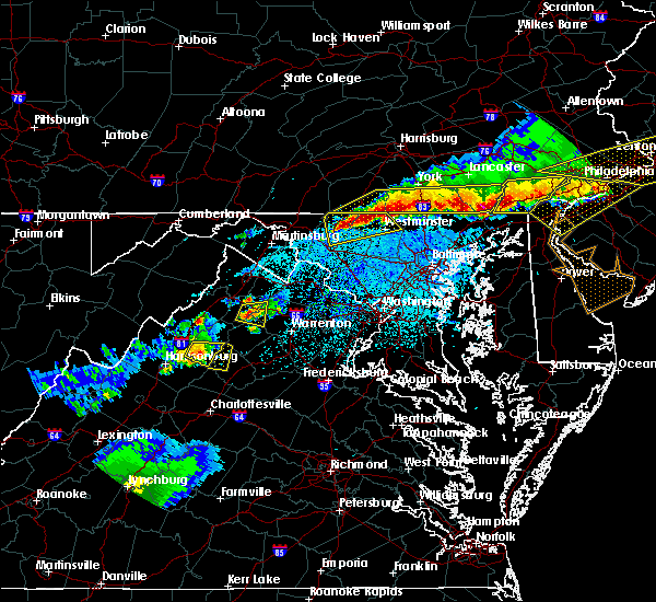 Radar Image for Severe Thunderstorms near Walkersville, MD at 5/15/2018 6:31 PM EDT