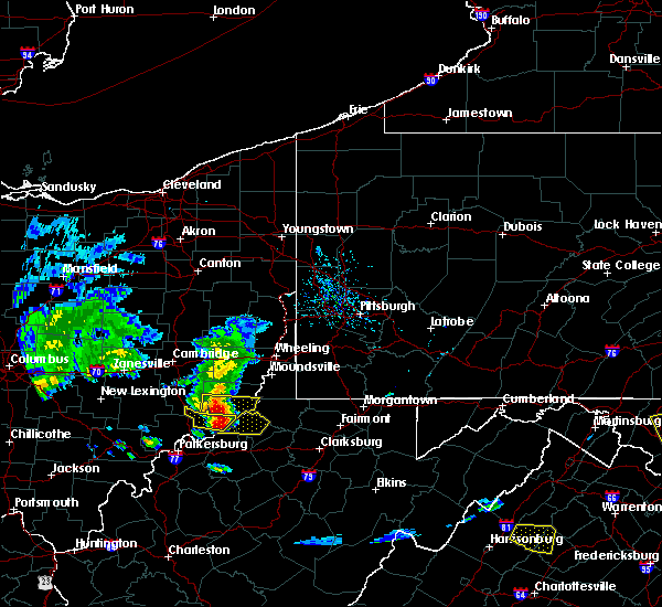 Radar Image for Severe Thunderstorms near Sardis, OH at 5/15/2018 6:50 PM EDT