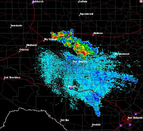Radar Image for Severe Thunderstorms near Ballinger, TX at 5/16/2018 3:51 AM CDT