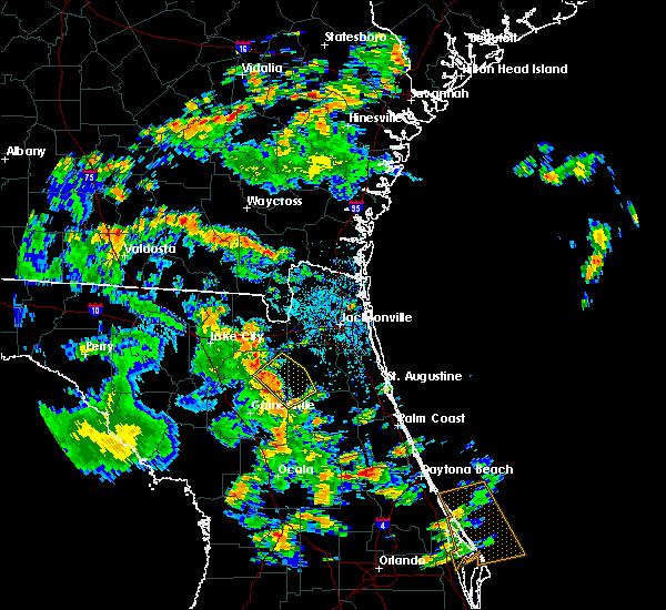 Radar Image for Severe Thunderstorms near Lawtey, FL at 5/16/2018 3:26 PM EDT