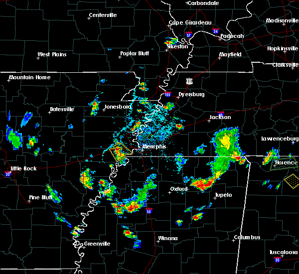 Radar Image for Severe Thunderstorms near Memphis, TN at 5/16/2018 4:45 PM CDT