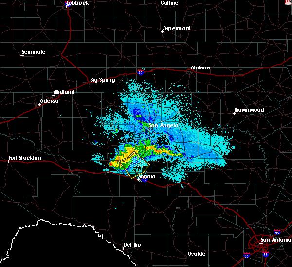 Radar Image for Severe Thunderstorms near Eldorado, TX at 5/16/2018 9:33 PM CDT