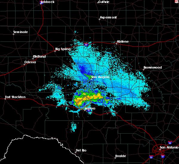 Radar Image for Severe Thunderstorms near Eldorado, TX at 5/16/2018 9:54 PM CDT
