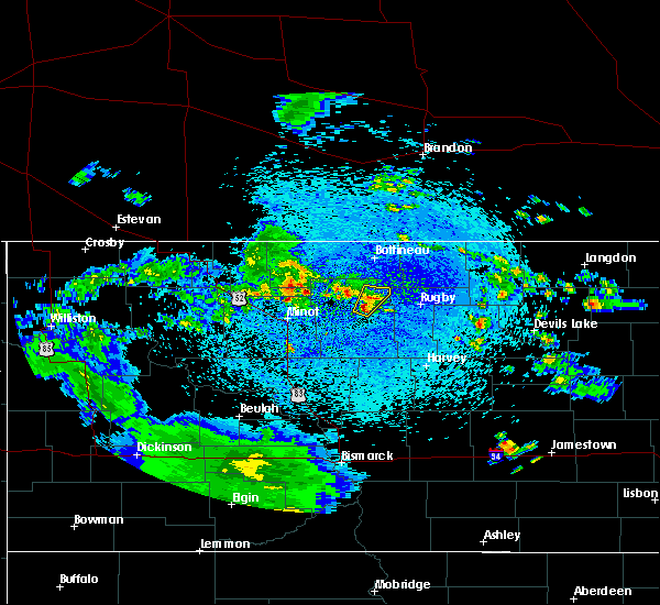 Radar Image for Severe Thunderstorms near Towner, ND at 5/17/2018 8:45 AM CDT