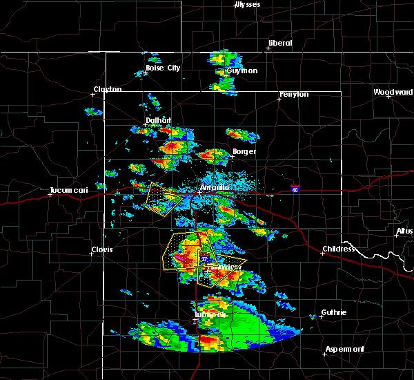 Radar Image for Severe Thunderstorms near Vega, TX at 5/17/2018 5:07 PM CDT