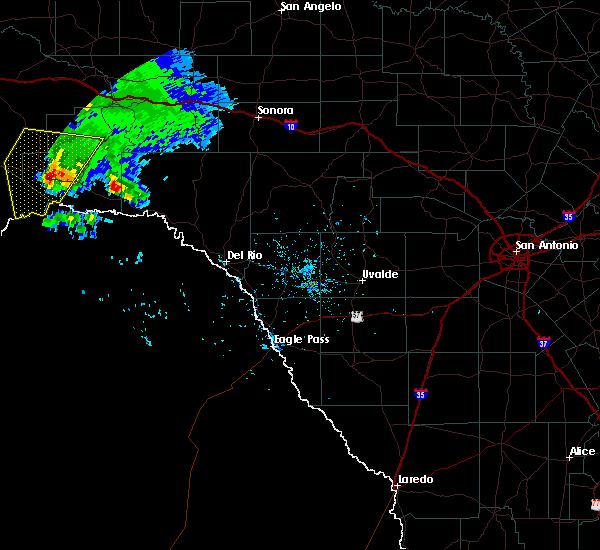 Radar Image for Severe Thunderstorms near Sanderson, TX at 5/17/2018 6:29 PM CDT