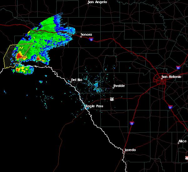 Radar Image for Severe Thunderstorms near Sanderson, TX at 5/17/2018 6:40 PM CDT