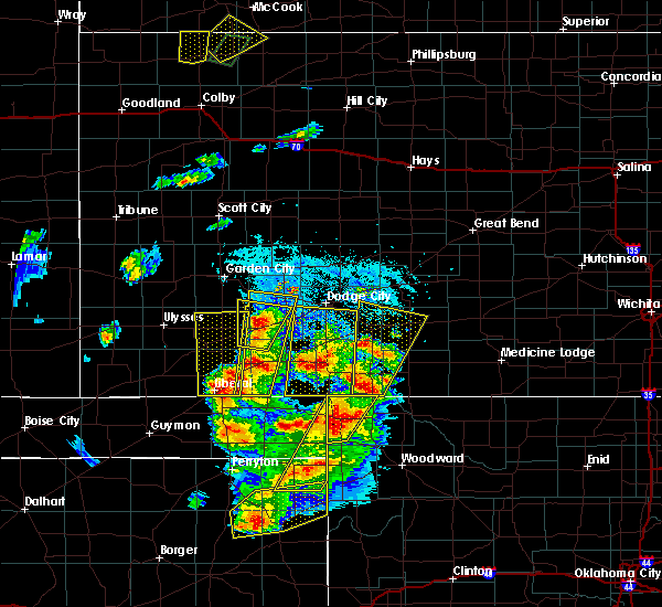 Radar Image for Severe Thunderstorms near Protection, KS at 5/18/2018 7:06 PM CDT