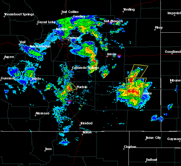 Radar Image for Severe Thunderstorms near Eads, CO at 5/18/2018 6:28 PM MDT
