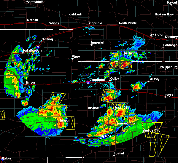 Radar Image for Severe Thunderstorms near Oberlin, KS at 5/18/2018 7:50 PM CDT