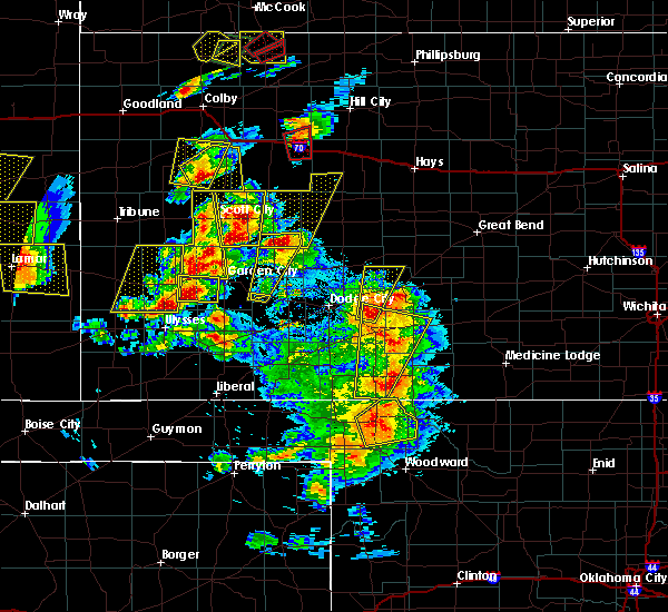 Radar Image for Severe Thunderstorms near Healy, KS at 5/18/2018 8:00 PM CDT