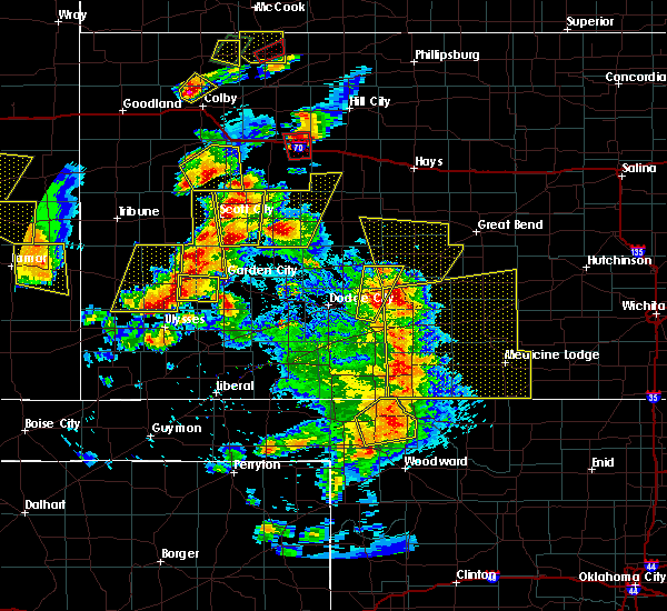Radar Image for Severe Thunderstorms near Healy, KS at 5/18/2018 8:10 PM CDT