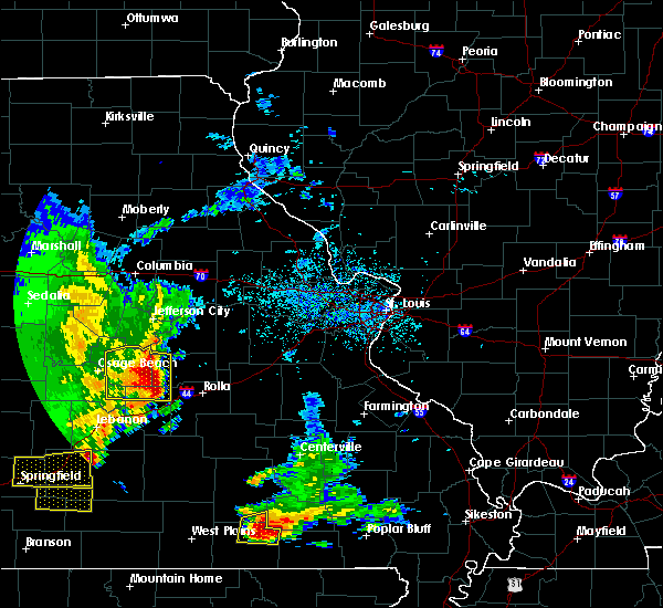 Radar Image for Severe Thunderstorms near St. James, MO at 5/19/2018 1:05 PM CDT