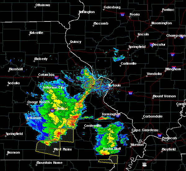 Radar Image for Severe Thunderstorms near St. Peters, MO at 5/19/2018 2:46 PM CDT