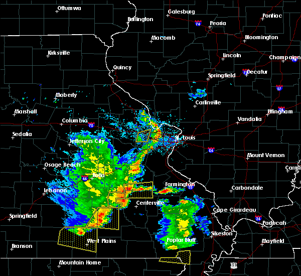 Radar Image for Severe Thunderstorms near Irondale, MO at 5/19/2018 2:58 PM CDT