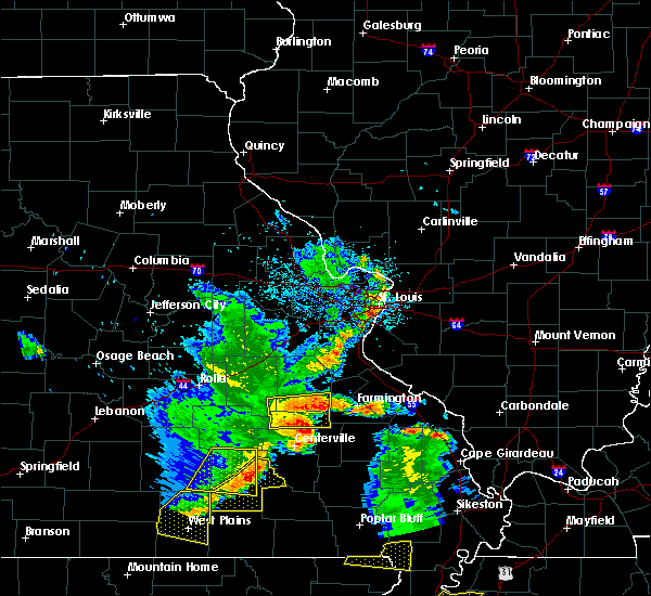 Radar Image for Severe Thunderstorms near Irondale, MO at 5/19/2018 3:23 PM CDT
