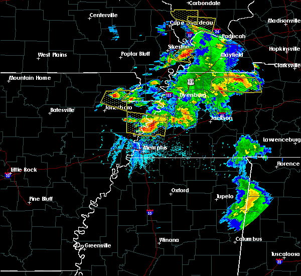 Radar Image for Severe Thunderstorms near Paragould, AR at 5/19/2018 5:28 PM CDT