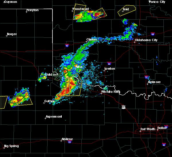 Radar Image for Severe Thunderstorms near Vernon, TX at 5/19/2018 6:56 PM CDT