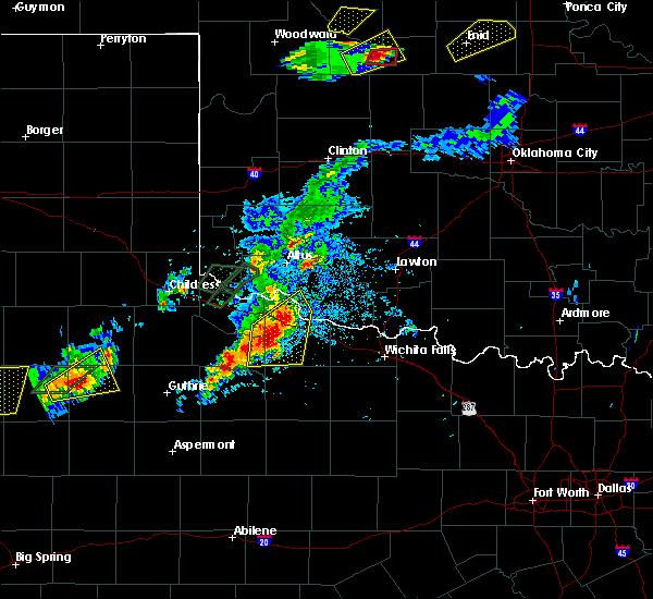Radar Image for Severe Thunderstorms near Vernon, TX at 5/19/2018 7:05 PM CDT