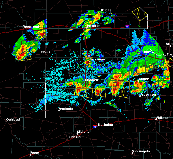 Radar Image for Severe Thunderstorms near Post, TX at 5/19/2018 10:56 PM CDT