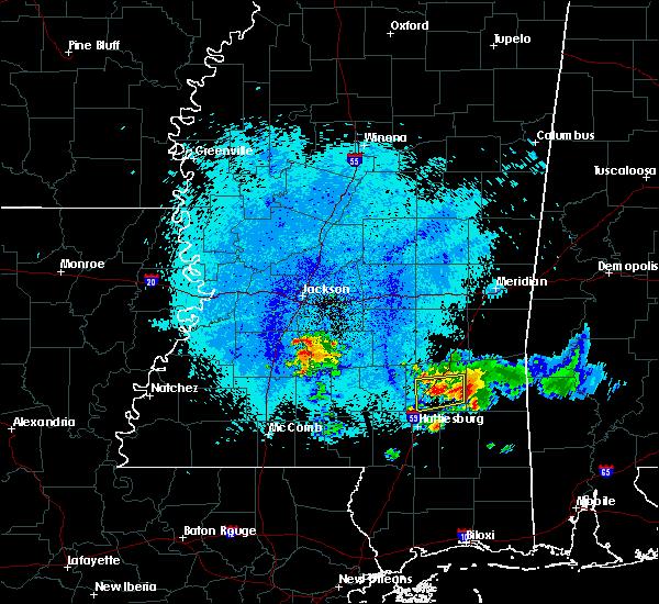 Radar Image for Severe Thunderstorms near Ellisville, MS at 5/20/2018 12:15 AM CDT
