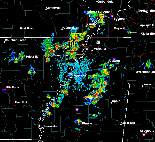 Radar Image for Severe Thunderstorms near Blytheville, AR at 5/20/2018 3:03 PM CDT