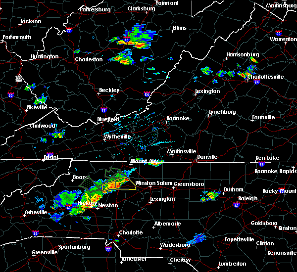 Radar Image for Severe Thunderstorms near North Wilkesboro, NC at 5/20/2018 4:56 PM EDT
