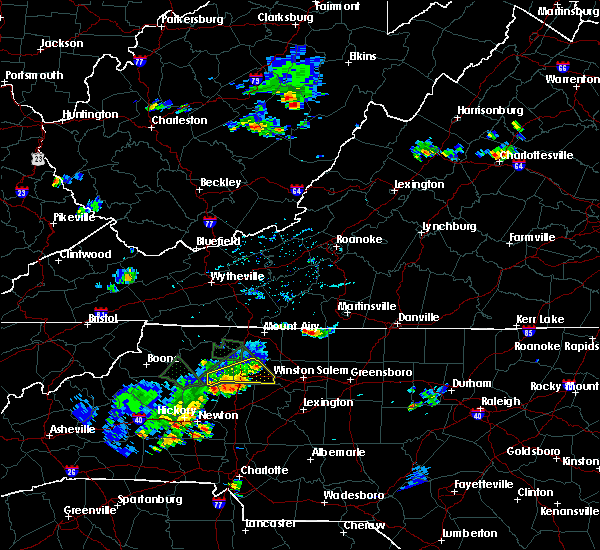 Radar Image for Severe Thunderstorms near North Wilkesboro, NC at 5/20/2018 5:14 PM EDT