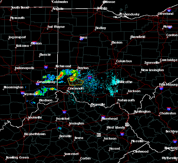 Radar Image for Severe Thunderstorms near Lebanon, OH at 5/20/2018 6:32 PM EDT