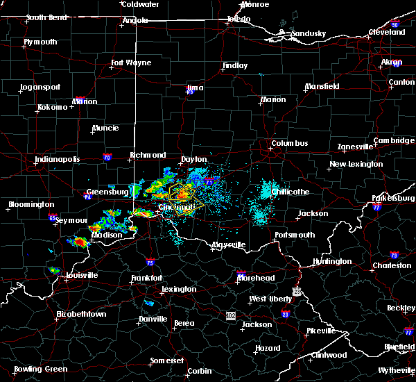 Radar Image for Severe Thunderstorms near Mulberry, OH at 5/20/2018 7:01 PM EDT