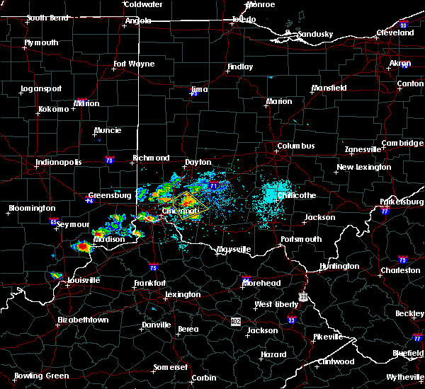 Radar Image for Severe Thunderstorms near Pleasant Plain, OH at 5/20/2018 7:04 PM EDT