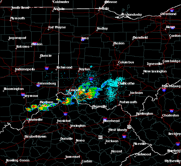 Radar Image for Severe Thunderstorms near Bethel, OH at 5/20/2018 7:53 PM EDT