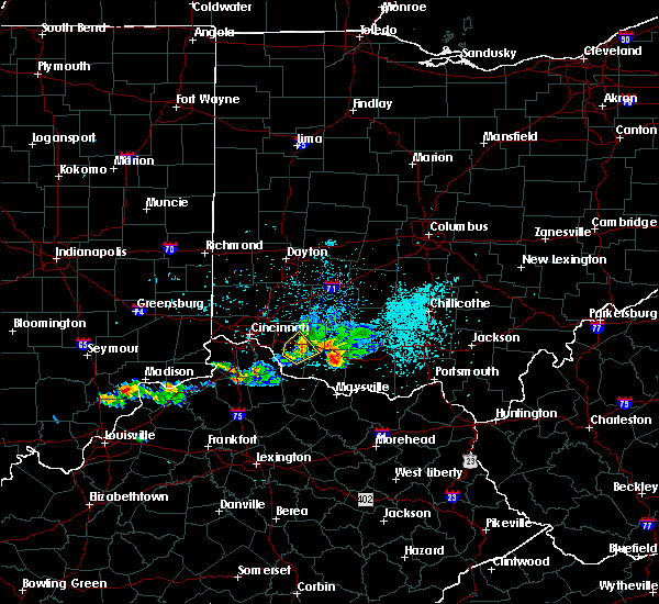 Radar Image for Severe Thunderstorms near Bethel, OH at 5/20/2018 8:05 PM EDT