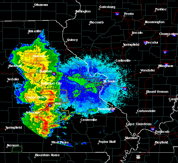Radar Image for Severe Thunderstorms near Salem, MO at 5/20/2018 8:52 PM CDT
