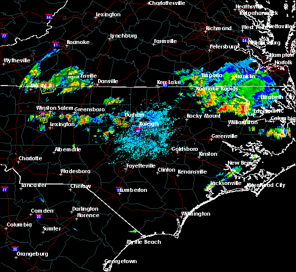 Radar Image for Severe Thunderstorms near Durham, NC at 5/21/2018 3:44 PM EDT