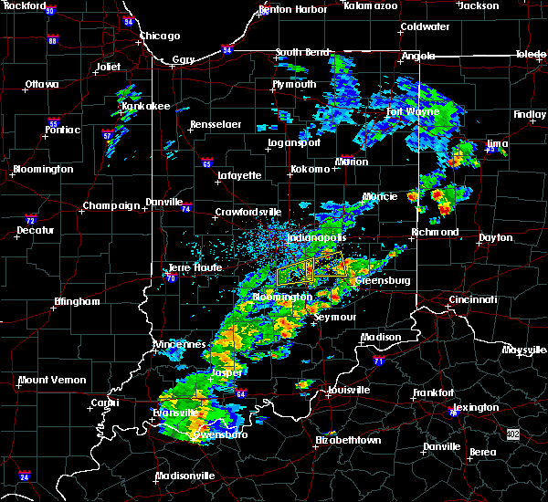 Radar Image for Severe Thunderstorms near Fairland, IN at 5/21/2018 5:28 PM EDT