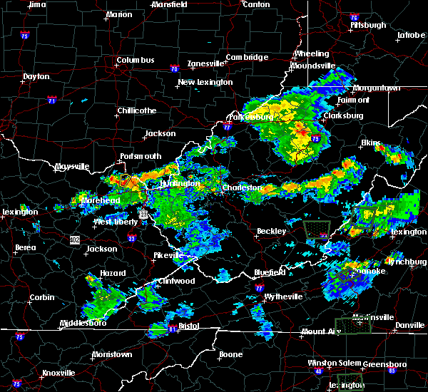 Radar Image for Severe Thunderstorms near Wurtland, KY at 5/21/2018 6:47 PM EDT