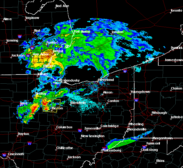 Radar Image for Severe Thunderstorms near Oceola, OH at 5/21/2018 6:57 PM EDT