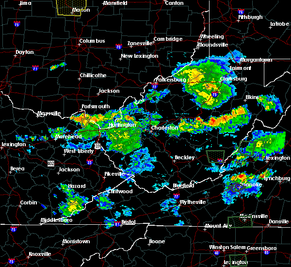 Radar Image for Severe Thunderstorms near Wurtland, KY at 5/21/2018 7:09 PM EDT