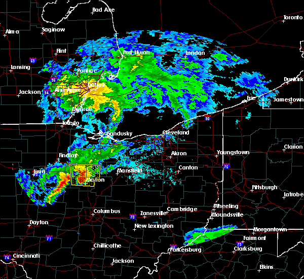 Radar Image for Severe Thunderstorms near La Rue, OH at 5/21/2018 7:16 PM EDT