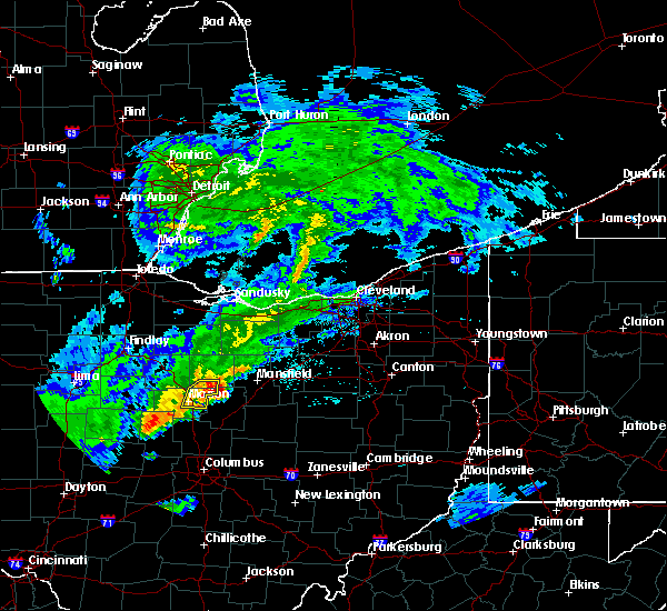 Radar Image for Severe Thunderstorms near Lucas, OH at 5/21/2018 7:58 PM EDT