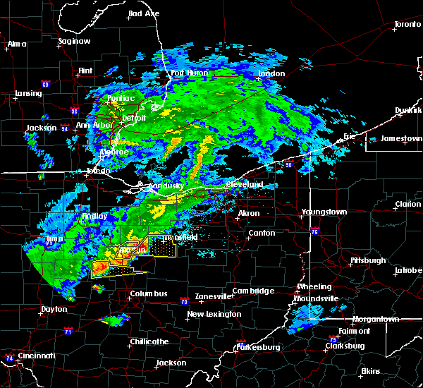 Radar Image for Severe Thunderstorms near Lucas, OH at 5/21/2018 8:02 PM EDT