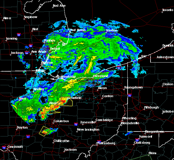 Radar Image for Severe Thunderstorms near Lucas, OH at 5/21/2018 8:26 PM EDT