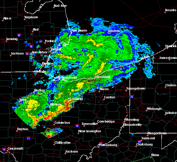 Radar Image for Severe Thunderstorms near Lucas, OH at 5/21/2018 8:48 PM EDT