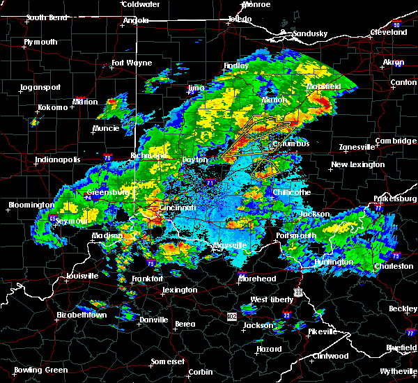 Radar Image for Severe Thunderstorms near New Albany, OH at 5/21/2018 9:19 PM EDT