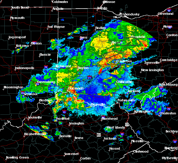 Radar Image for Severe Thunderstorms near Lafayette, OH at 5/21/2018 9:40 PM EDT