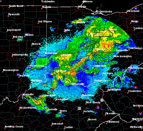 Radar Image for Severe Thunderstorms near Good Hope, OH at 5/21/2018 10:32 PM EDT
